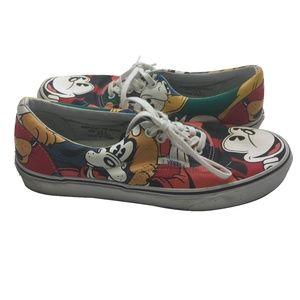 Rare Sample Van's Disney Mickey Goofy Shoes Sz 9